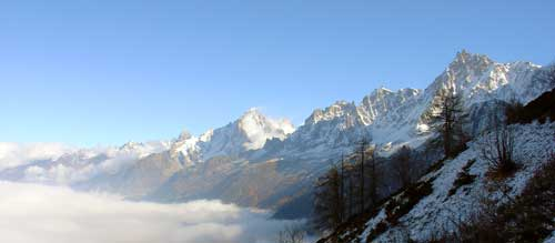 Chamonix Aiguilles from Tete Rouse